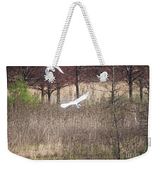 Weekender Tote Bag featuring the photograph Great White Egret - 3 by David Bearden