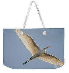 Weekender Tote Bag featuring the photograph Great White Egret by David Bearden