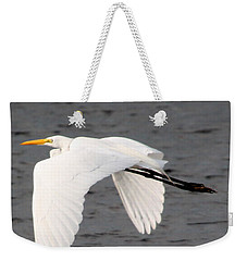 Great White Egret In Flight Weekender Tote Bag
