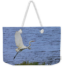 Great White Egret Weekender Tote Bag