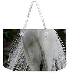 Great White Egret Windblown Weekender Tote Bag by Sabrina L Ryan