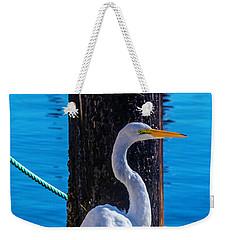 Great White Heron Weekender Tote Bag by Garry Gay