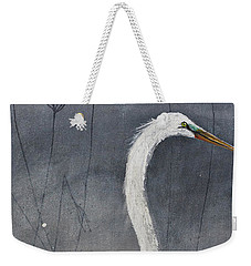 Great White Heron Original Art Weekender Tote Bag