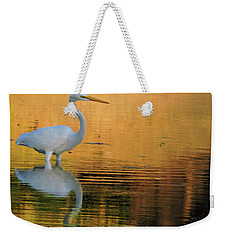 Great White On Gold Weekender Tote Bag