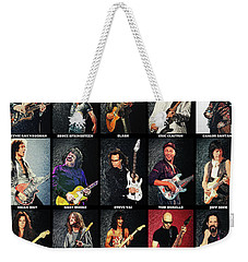 Greatest Guitarists Of All Time Weekender Tote Bag