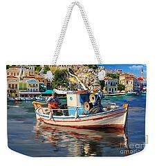Greece Fisherman Weekender Tote Bag