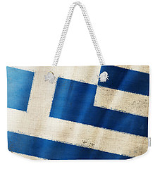 Greece Flag Weekender Tote Bag