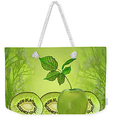 Greeeeeen Weekender Tote Bag by Shirley Mangini
