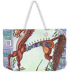 Greek Gift Right Weekender Tote Bag by Melinda Dare Benfield