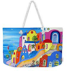 Greek Islands Fantasy Village Santorini Weekender Tote Bag