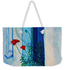 Weekender Tote Bag featuring the painting Greek Poppies by Xueling Zou