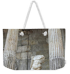 Weekender Tote Bag featuring the photograph Greek Statue by Patricia Hofmeester