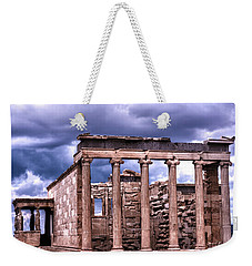 Greek Temple Weekender Tote Bag by Linda Constant