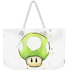 Green 1up Mushroom Weekender Tote Bag