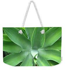 Green Agave Leaves Weekender Tote Bag