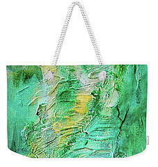 Green And Gold Abstract Weekender Tote Bag