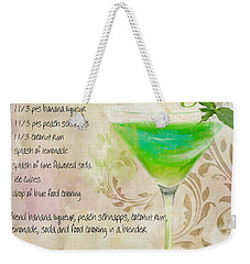 Green Angel Mixed Cocktail Recipe Sign Weekender Tote Bag by Mindy Sommers