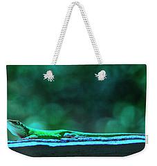 Green Anole Lizard Weekender Tote Bag