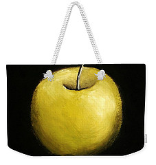 Weekender Tote Bag featuring the painting Green Apple Still Life 2.0 by Michelle Calkins