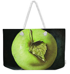 Green Apple With Leaf Weekender Tote Bag by Marna Edwards Flavell