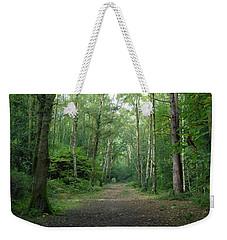 Weekender Tote Bag featuring the photograph Green Autumn by Anne Kotan