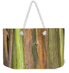 Weekender Tote Bag featuring the photograph Green Bark 3 by Werner Padarin