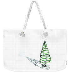 Green Bead Christmas Tree II Weekender Tote Bag