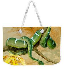 Green Boa Weekender Tote Bag