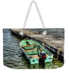 Green Boat Weekender Tote Bag