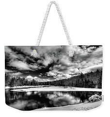 Weekender Tote Bag featuring the photograph Green Bridge Solitude by David Patterson