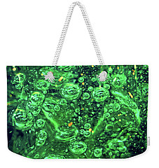 Green Bubbles Floating Weekender Tote Bag