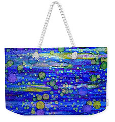 Green Bubbles In A Purple Sea Weekender Tote Bag