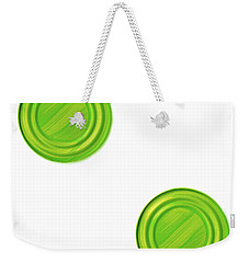 Green Can Lid Times Two Weekender Tote Bag