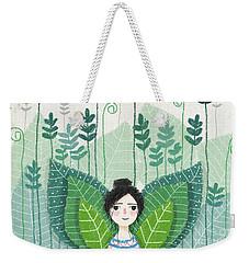 Green Weekender Tote Bag by Carolina Parada