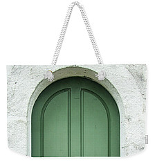 Green Church Door Iv Weekender Tote Bag