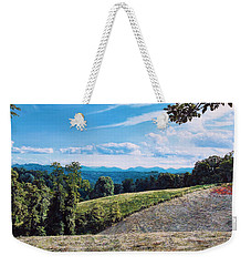 Weekender Tote Bag featuring the painting Green Country by Joshua Martin