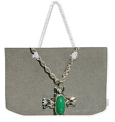Weekender Tote Bag featuring the photograph Green Cross by Marie Neder