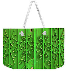Weekender Tote Bag featuring the photograph Green Door by Carlos Caetano