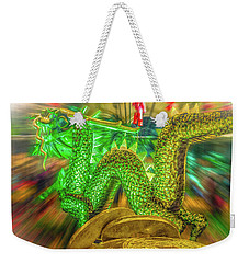 Green Dragon Weekender Tote Bag by Mark Dunton