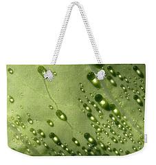 Green Drops Weekender Tote Bag by Raffaella Lunelli
