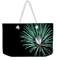 Weekender Tote Bag featuring the photograph Green Explosion by Suzanne Luft