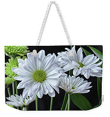 Weekender Tote Bag featuring the photograph Green Eyed Daisy by Bonnie Willis