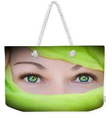 Green-eyed Girl Weekender Tote Bag