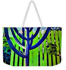 Green Fence Weekender Tote Bag by Joan Reese