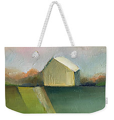 Weekender Tote Bag featuring the painting Green Field by Michelle Abrams