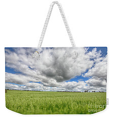 Weekender Tote Bag featuring the photograph Green Fields 2 by Douglas Barnard