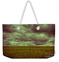 Weekender Tote Bag featuring the photograph Green Fields 3 by Douglas Barnard