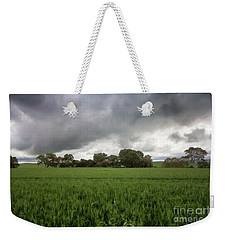Weekender Tote Bag featuring the photograph Green Fields 5 by Douglas Barnard