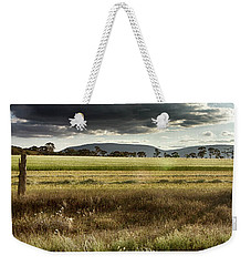 Weekender Tote Bag featuring the photograph Green Fields 6 by Douglas Barnard
