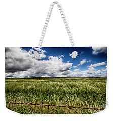Weekender Tote Bag featuring the photograph Green Fields by Douglas Barnard